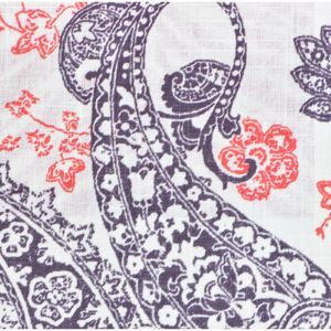 Fashion Simple Paisley Pattern Printing Cotton And Linen Textile Fabrics