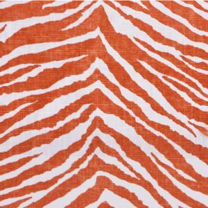 Orange Zebra Pattern Printing Cotton And Linen Textile Fabrics