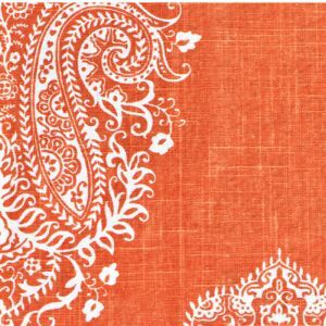 Orange Printing Cotton And Linen Textile Fabrics