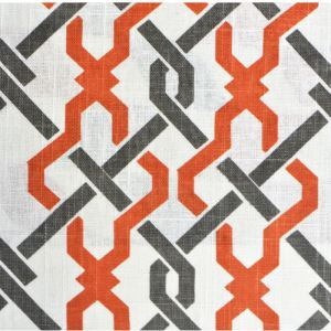 Orange Geometric Printing Cotton And Linen Textile Fabrics