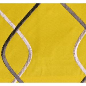 Yellow Embroidery Cotton Textile Fabrics