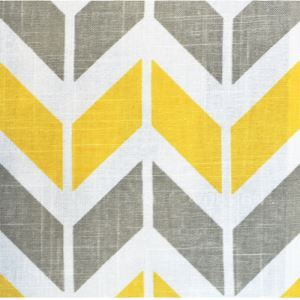 Yellow Geometric Printing Cotton And Linen Textile Fabrics
