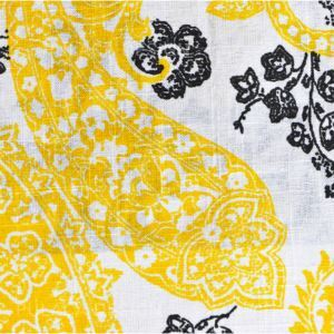 Yellow Printing Cotton And Linen Textile Fabrics