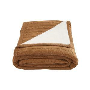 European Simple Thicken Cashmere Cotton Knitting Aircraft Blanket 120*180cm