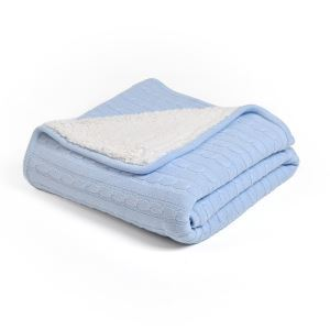 European Simple Thicken Cashmere Cotton Knitting Aircraft Blanket 150*200cm