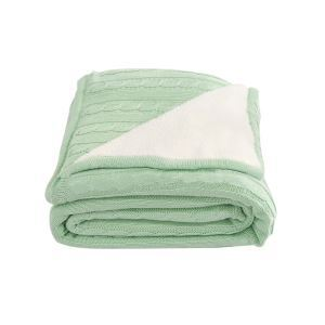 European Simple Thicken Double Layer Cashmere Cotton Knitting Aircraft Blanket 180*200cm