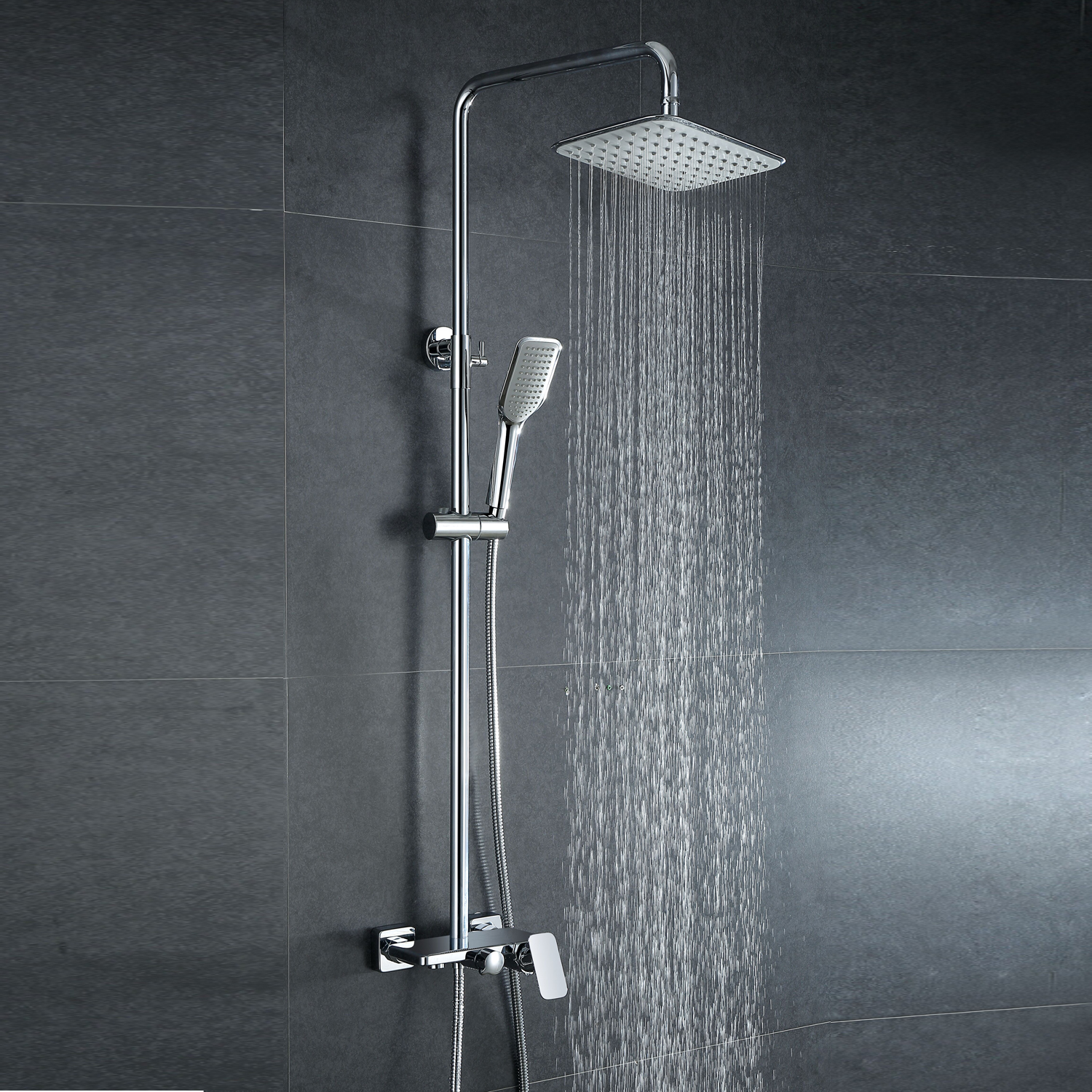 Faucets Shower Faucets European Modern Copper Shower