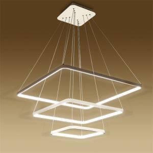 Modern Simple LED Pendant Light Metal + Acrylic White / Warm White Light LED Patch Ceiling Light 3 Layers 70CM+50CM+30CM Energy Saving
