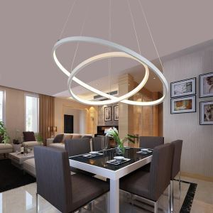 Modern Simple LED Pendant Light Metal + Acrylic White / Warm White Light LED Patch Ceiling Light 48W Energy Saving(I'll Be Your Backbone)