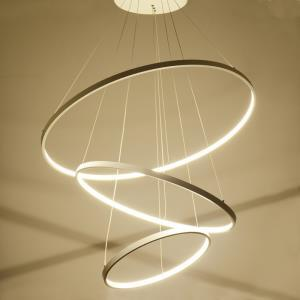 Modern Simple LED Pendant Light Metal + Acrylic White / Warm White Light LED Patch Ceiling Light 90W Energy Saving(I'll Be Your Backbone)