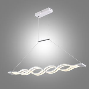 Modern Simple Metal + Acrylic Baking Paint LED Ceiling Light