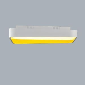 Modern Simple Metal + Plastic + Acrylic Baking Paint LED Ceiling Light (White + Warm White) Without Remote Control Energy Saving