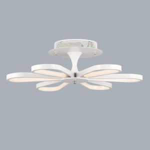 (In Stock)Modern Simple Metal + Plastic Baking Paint White / Warm White Light LED Ceiling Light Energy Saving
