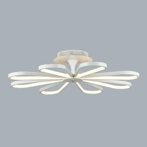 Modern Simple Metal + Plastic Baking Paint White / Warm White Light LED Ceiling Light
