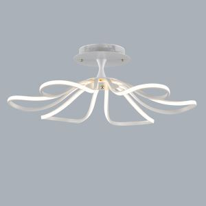 Modern Simple Metal + Plastic Baking Paint White / Warm White Light LED Ceiling Light Energy Saving