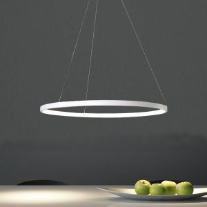 Modern Simple LED Pendant Light Metal + Acrylic Light LED Ceiling Light 40W Energy Saving(Angel's Halo)