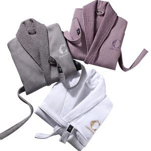 Superior Hotel Cotton Bathrobe Towel Material Autumn And Winter Home Men And Women Clothes Robe Thicker
