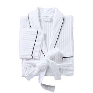 Superior Star Cotton Hotel Bathrobe Men and Women Couples Cotton Gowns Summer Thin Waffle Lattice Bathrobe