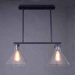 American Rural Industrial Retro Style Iron Craft Black Halved Pendant Light