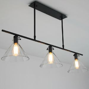 American Rural Industrial Retro Style Iron Craft Black Three Lights Pendant Light