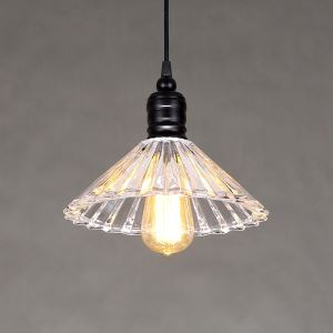 American Rural Industrial Retro Style Iron Craft Crystal Umbrella Pendant Light