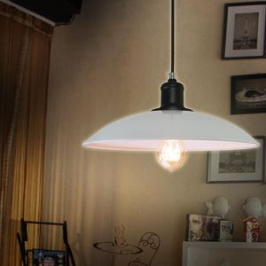 American Rural Industrial Retro Style Iron Craft Simple White Pendant Light
