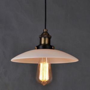 American Rural Industrial Retro Style Iron Craft Copper Head Glass Pendant Light