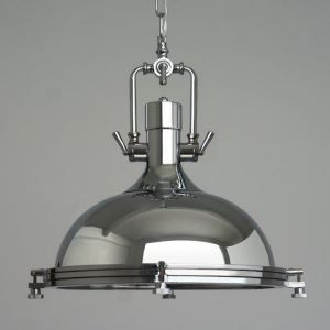American Rural Industrial Retro Style Iron Craft Creative Vincent Pendant Light Chrome Shade