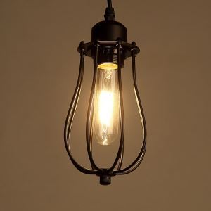 American Rural Industrial Retro Style Iron Craft Pomelo Shaped Black Ceiling Light