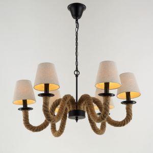 American Rural Industrial Retro Style Iron Craft Creative Hemp Rope Pendant Light