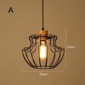 American Rural Industrial Retro Style Iron Craft Solid Wood Chandeliers