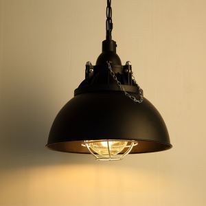 American Rural Industrial Retro Style Iron Craft Creative Iron Cap Pendant Light