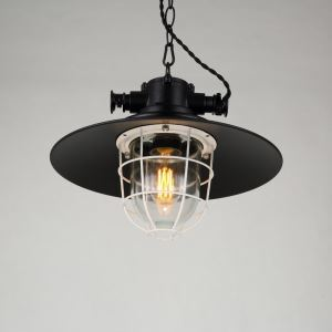 American Rural Industrial Retro Style Iron Craft Creative Hat Pendant Light