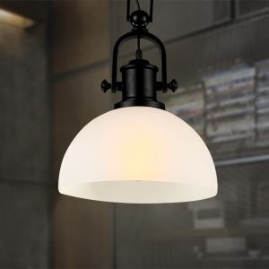 American Rural Industrial Retro Style Iron Craft Simple Glass Pendant Light