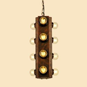 American Rural Industrial Retro Style Iron Craft 12 Lights Pendant Light
