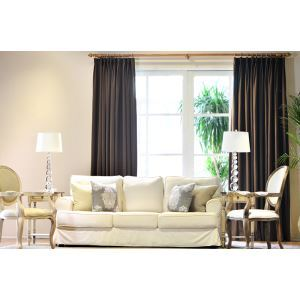 Modern Simple High - grade Environmentally Friendly Cotton Semi - shade Custom Finished Bedroom Study Living Room Curtains