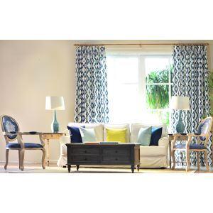 American Scandinavian Flax Environmental Geometric Simplicity Modern Living Room Bedroom Window Curtains