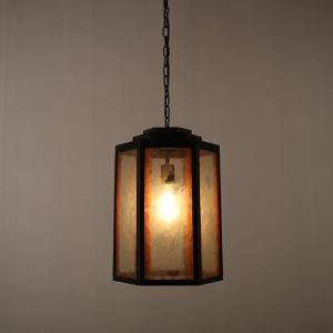 American Rural Industrial Retro Style Iron Craft Creative Glass Pendant Light