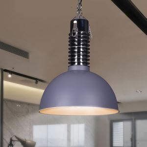 American Rural Industrial Retro Style Iron Craft Personalized Pot Cover Shaped Pendant Light