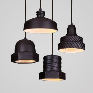 American Rural Industrial Retro Style Iron Craft Personalized Ceramics Pendant Light