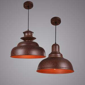 American Rural Industrial Retro Style Iron Craft Personalized Balcony Pendant Light