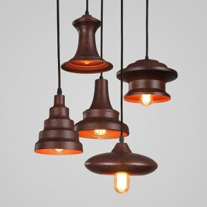 American Rural Industrial Retro Style Iron Craft Personalized Pendant Light
