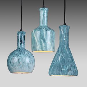 American Rural Industrial Retro Style Iron Craft Creative Ceramics Lampshde Pendant Light