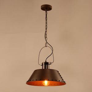 American Rural Industrial Retro Style Iron Craft Personalized Bar Pendant Light