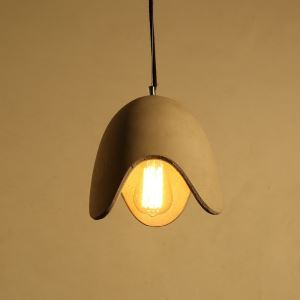 American Rural Industrial Retro Style Iron Craft Personalized Cement Pendant Light