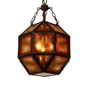 American Rural Industrial Retro Style Iron Craft Personalized Geometric Pendant Light