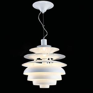 60W contemporary Aluminum Pendant Light in White