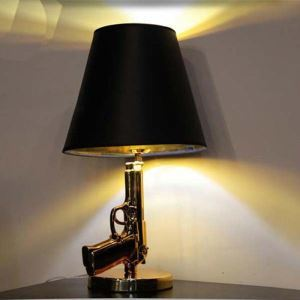 "(In Stock)Graceful and Modern Gun Table Lamp in Designer Style 17.7""High"