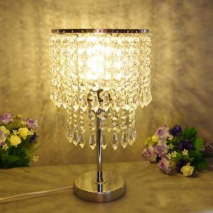Breathe New Llight into Tired Room with Stylish Crystal Beads Table Lamp
