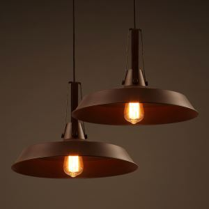Bronze Finish 16'' Wide Full Sized Industrial Style Pendant